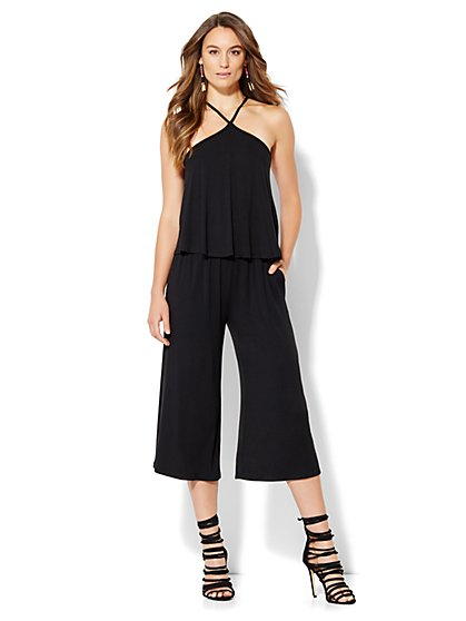 Halter Culotte Jumpsuit  - New York & Company