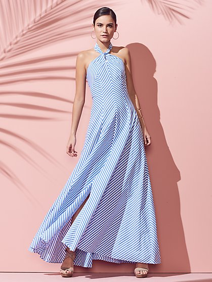 Halter Maxi Dress - Stripe - New York & Company