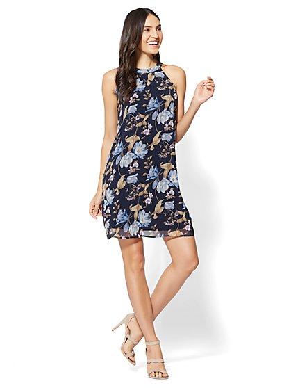 Halter Shift Dress - Floral - New York & Company
