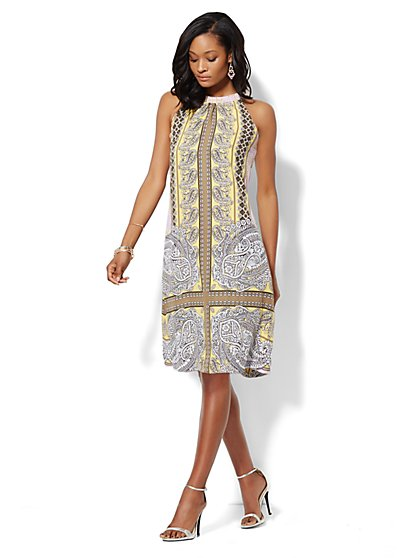 Halter Shift Dress - Paisley  - New York & Company
