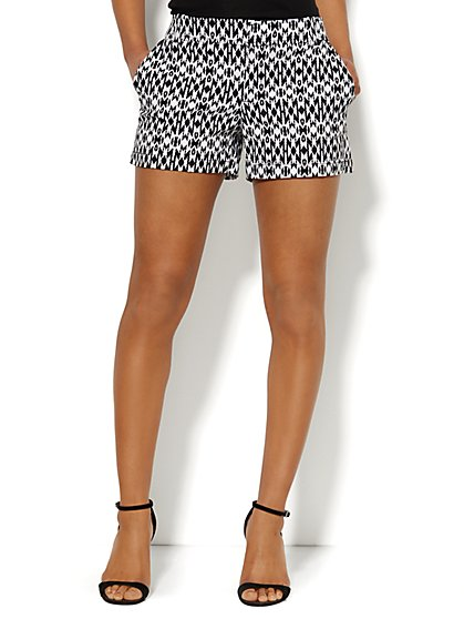 Hampton Aztec Print Short - 4'' - New York & Company