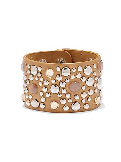 Hardware-Accent Faux-Suede Bracelet  - New York & Company