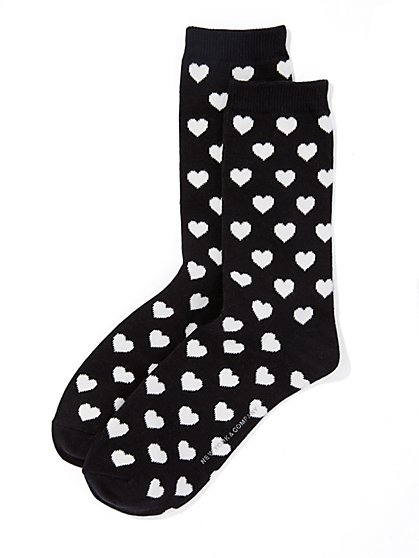 Heart-Print Sock  - New York & Company