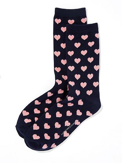 Heart-Print Sock  - New York & Company