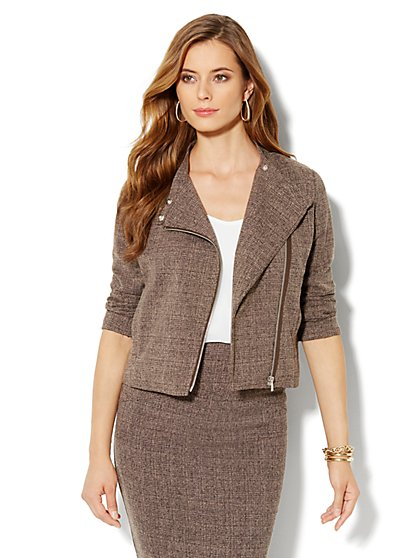 Heritage Tweed Moto Jacket - New York & Company