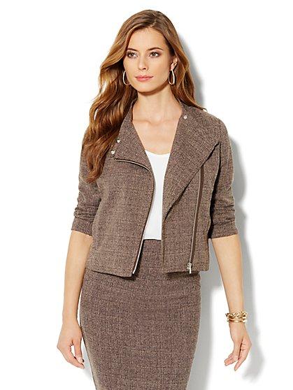 Heritage Tweed Moto Jacket - New York & Company