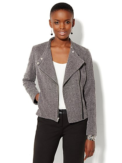 Herringbone Moto Jacket - New York & Company