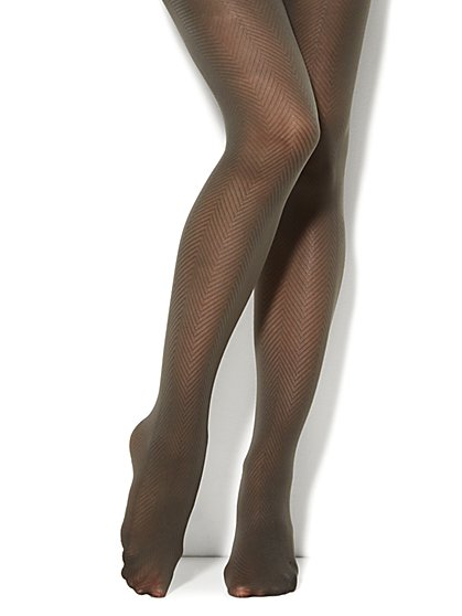 Herringbone Pattern Tights  - New York & Company
