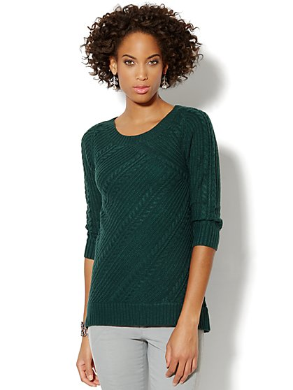 Hi-Lo Cable Sweater - New York & Company