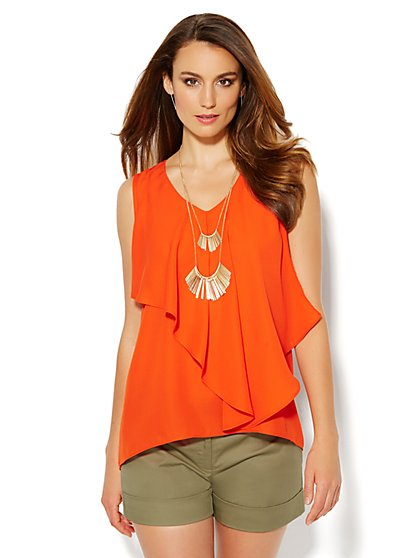 Hi-Lo Cascade Blouse - New York & Company