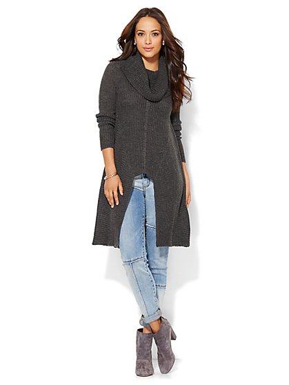 Hi-Lo Cowl-Neck Sweater  - New York & Company
