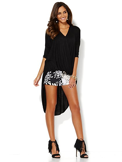 Hi-Lo Draped Top  - New York & Company