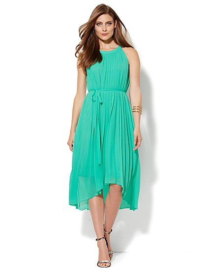 Hi-Lo Halter Dress - Petite  - New York & Company