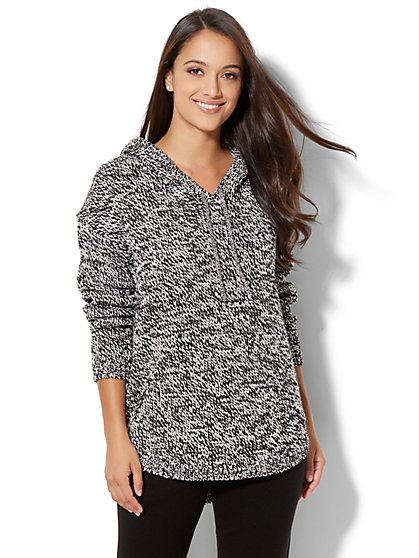 Hi-Lo Hoodie Sweater - New York & Company