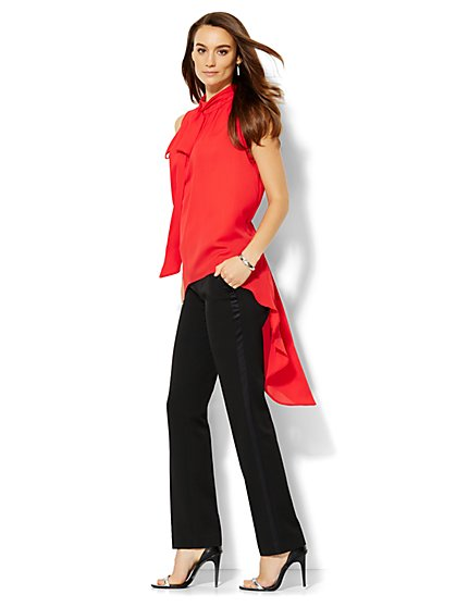 Hi-Lo Mock-Neck Blouse  - New York & Company