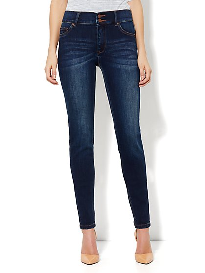 High Waist Legging - Dark Tide Wash - Petite