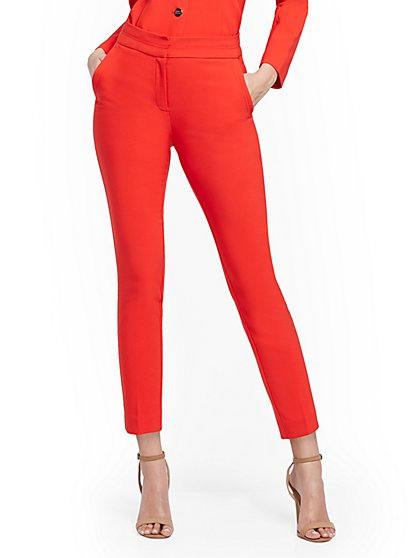 High-Waisted Ankle Pant - Two-Way Stretch - 7th Avenue - New York & Company