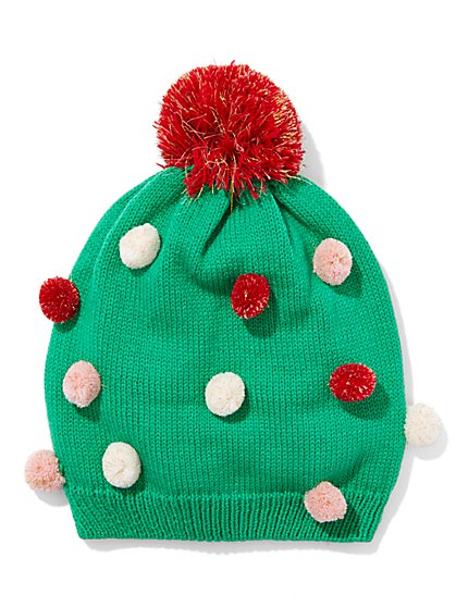 Holiday Lurex Pom-Pom Hat  - New York & Company