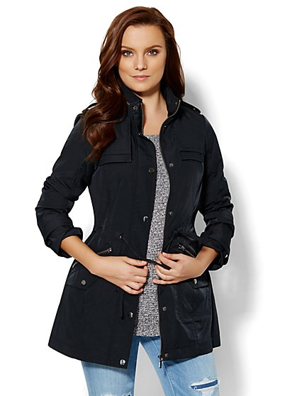 Hooded Anorak - Solid  - New York & Company