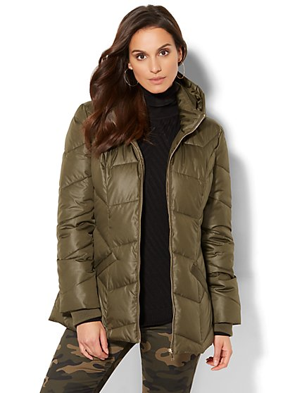 Hooded Puffer Jacket - New York & Company