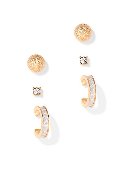 Hoop & Post Earring Set  - New York & Company