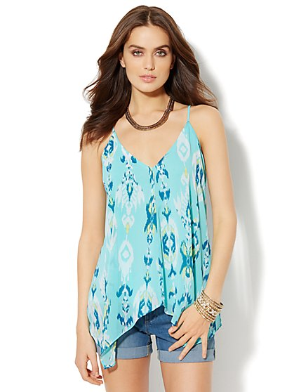 Ikat-Print Halter Top  - New York & Company