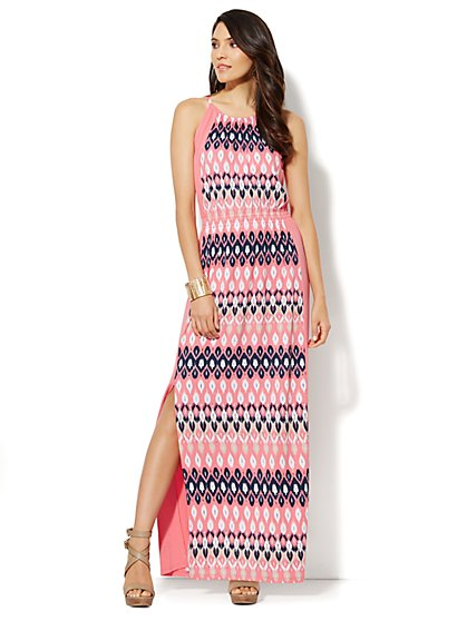 Ikat-Print Maxi Dress - New York & Company