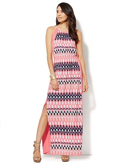 Ikat-Print Maxi Dress - New York & Company