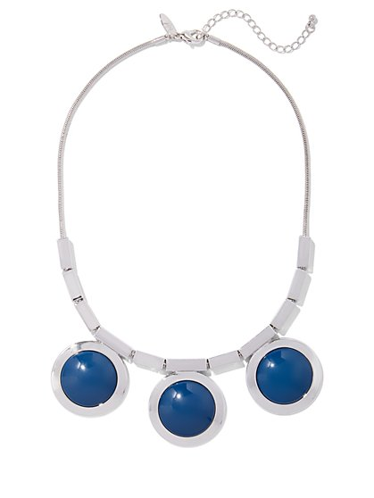 Indigo Cabochon Necklace  - New York & Company