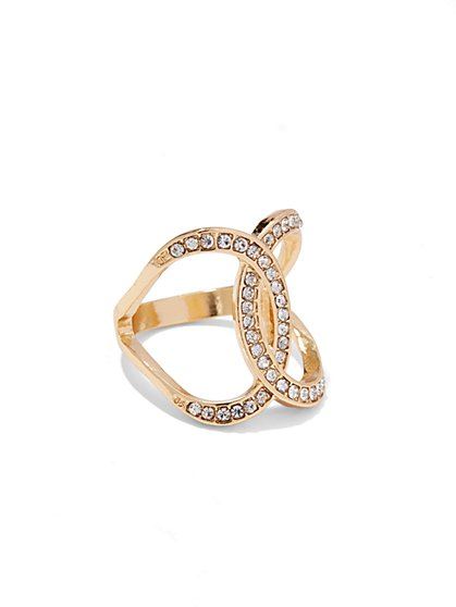 Intertwined-Circle Embellished Ring - New York & Company