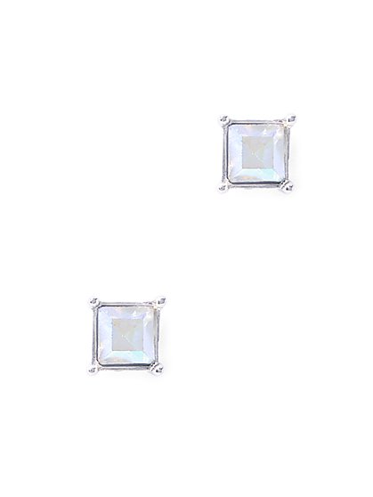 Iridescent Faceted Post Earring  - New York & Company