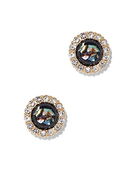 Iridescent Faux-Stone Post Earring - New York & Company