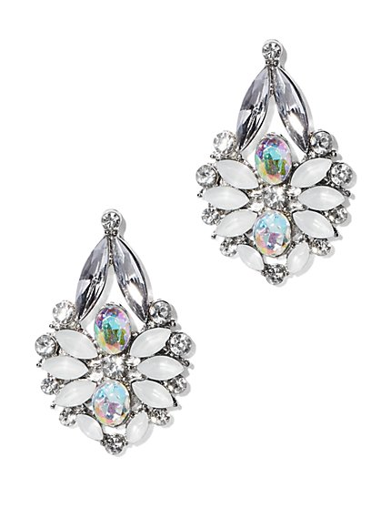Iridescent Sparkle Post Earring  - New York & Company