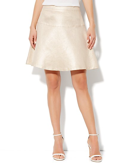 Jacquard Flare Skirt - New York & Company