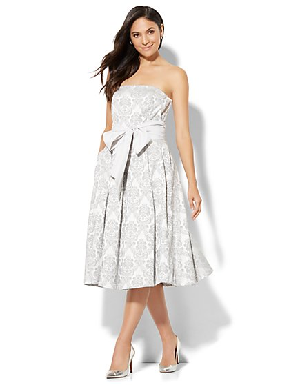 Jacquard Strapless Dress - Tall - New York & Company