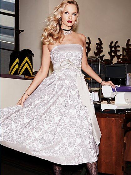 Jacquard Strapless Dress - New York & Company