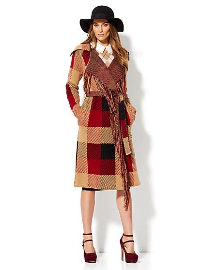 Jacquard Sweater Jacket  - New York & Company