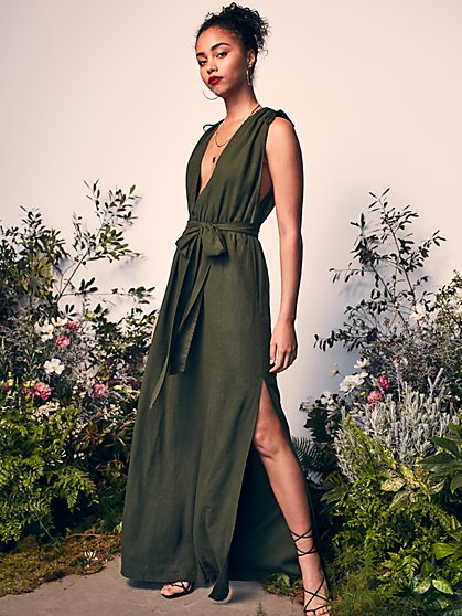 Jardin Maxi Dress with Responsibly-Sourced Viscose - New York & Company