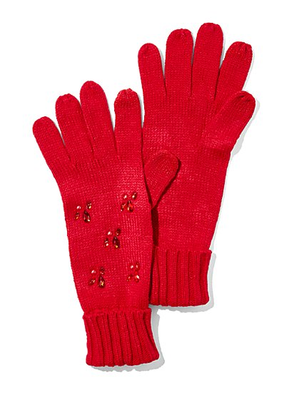 Jeweled Touchscreen Glove  - New York & Company