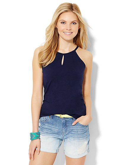 Keyhole Halter Top  - New York & Company