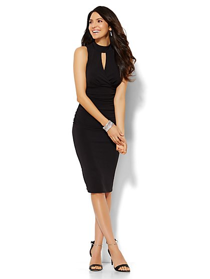 Keyhole Wrap Dress  - New York & Company