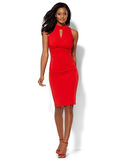 Keyhole Wrap Dress  - New York & Company
