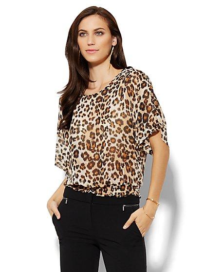 Kimono Blouse - Leopard  - New York & Company