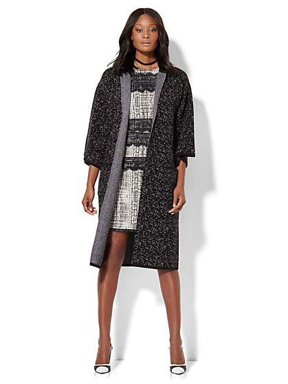 Kimono Coatigan - Black  - New York & Company