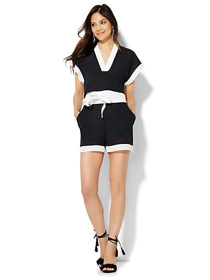 Kimono Romper - Colorblock  - New York & Company