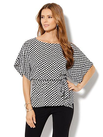 Kimono-Sleeve Print Blouse - New York & Company