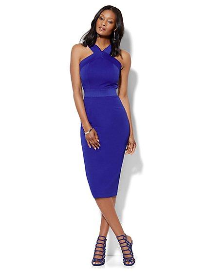 Knit Bodycon Halter Dress  - New York & Company