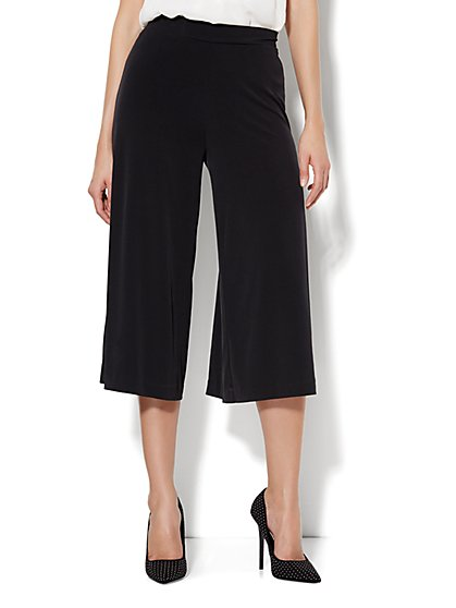 Knit Culotte Pant - Solid  - New York & Company
