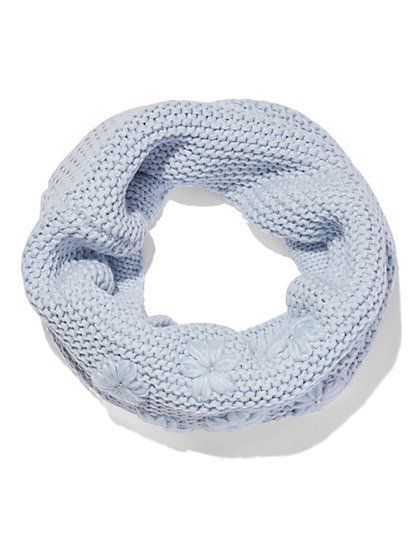Knit Floral Infinity Scarf  - New York & Company