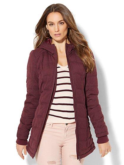 Knit Puffer Jacket - New York & Company